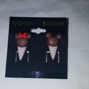 MICKEY AND MINNIE ICE CREAM EARRINGS